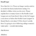 Los Angeles Times' Decision On Racing Coverage Rankles Some At Least