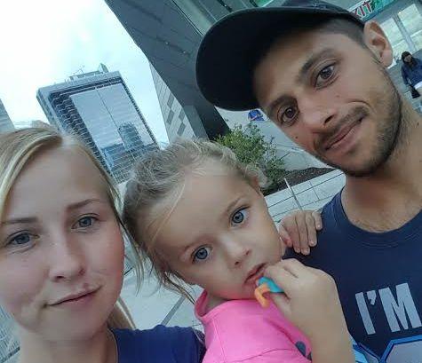 Caitlin Benner, Chloe, and Bryce Alderson