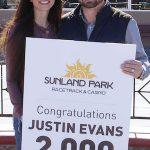 Justin Evans Hits 2,000-Win Milestone At Sunland Park