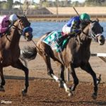 Cutting Humor Sets New Track Record In Sunland Derby