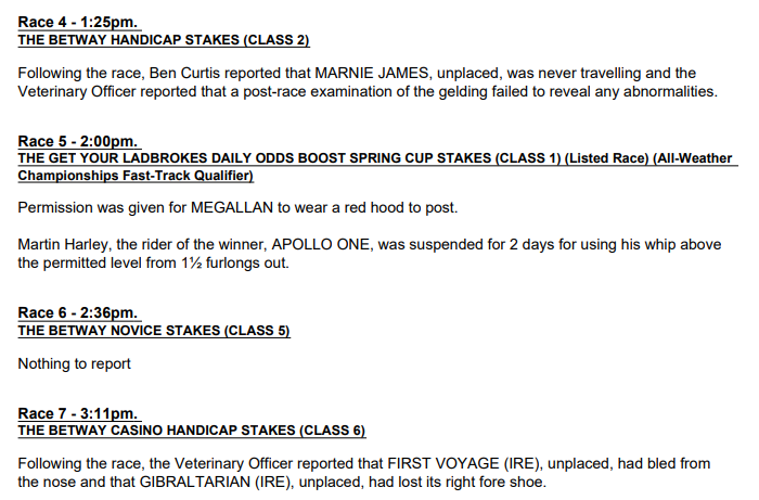 20210306 - BHA Post-Race Report from Lingfield Park.PNG